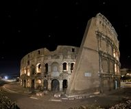 Panoramic shoot of Coliseum Stock Photos