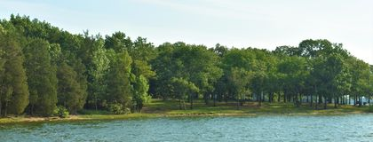 Panoramic Shoreline Percy Priest Lake 6. This is a panoramic image of a portion of the southwestern shore of J Percy Priest Lake in Nashville, Tennessee. This stock photo