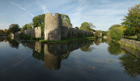 Panoramic shot of Bishops Palace, Wells Stock Images