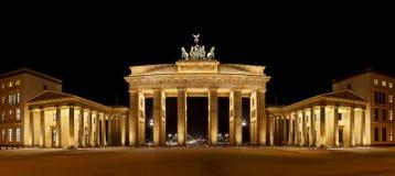 Brandenburg Gate Panorama stock photo