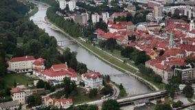 Panoramic shot of Celje stock video