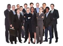 Panoramic Shot Of Confident Businesspeople Stock Photos