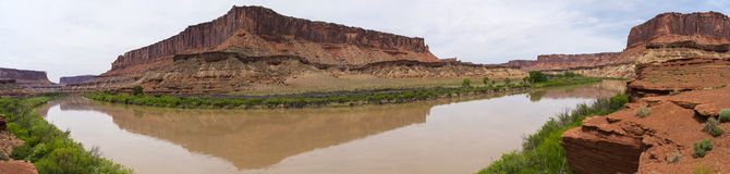 Panoramic Shot of Fort Bottom Trail White Rim Road Utah Stock Photography