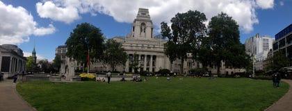 London Liverpool Street. A panoramic shot of the gardens directly above London Liverpool Street, East London Stock Photography