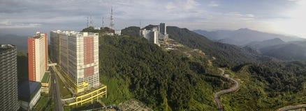 Panoramic shot of Genting Landscape in Bentong, Pahang, Malaysia stock images
