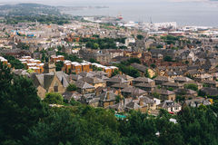 Panoramic shot of misty Dundee Royalty Free Stock Photography