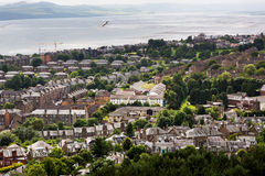 Panoramic shot of misty Dundee Stock Photography