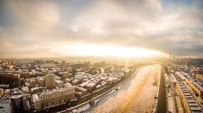 Panoramic shot of Moscow River Stock Image