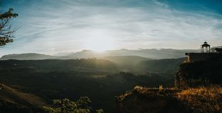 Panoramic Shot Of Mountains royalty free stock photography