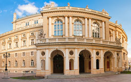 Panoramic shot of Opera House in Odessa, Ukraine royalty free stock image