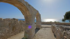 Panoramic shot on ruin of ancient city Kourion in Cyprus