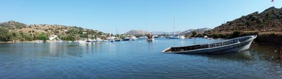 Panoramic shot of scenery of coast Stock Photo
