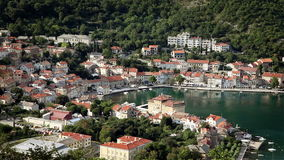 Panoramic shot of a small adriatic bay stock video footage