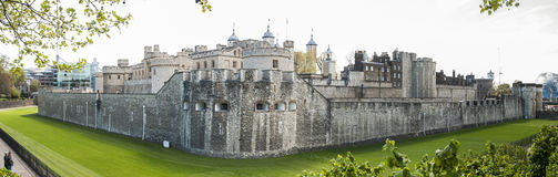 Panoramic shot of the Tower of London. Stock Photos