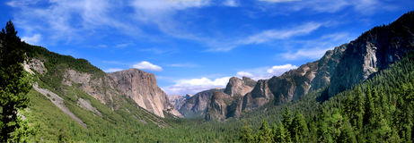 Panoramic Shot of Tunnel View Royalty Free Stock Image