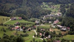 Panoramic shot of village stock video