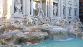 Panoramic Side view Trevi Fountain Rome. Italy stock video footage