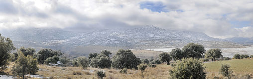 Panoramic of the Sierra Royalty Free Stock Images