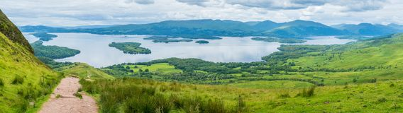 Free Panoramic Sight From Conic Hill, Over Loch Lomond, Scotland. Royalty Free Stock Images - 104141439