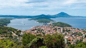 Panoramic sight of Mali Losinj. In Croatia Stock Photos