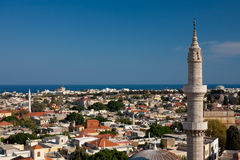 The Panoramic sight of Rhodes Old town Stock Photos