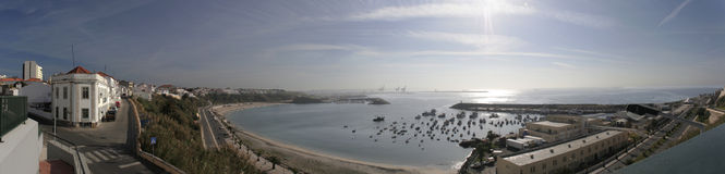 Panoramic of Sines, Portugal Stock Photography