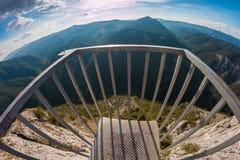 Panoramic site. `Eagle Eye` - Rhodope mountain, Bulgaria Stock Photo