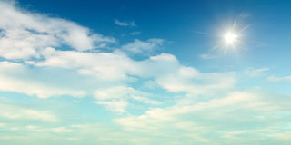 Panoramic sky background Stock Image