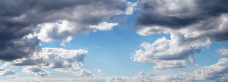 Panoramic sky Royalty Free Stock Photo