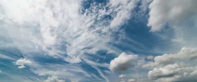 Panoramic sky day Royalty Free Stock Photography