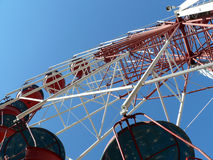 Panoramic sky-wheel Stock Photography