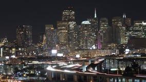San Francisco Skyline at Night stock video footage