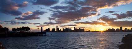 Panoramic Skyline Landscape of New Jersey Royalty Free Stock Photos