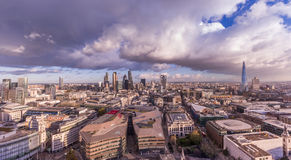 Panoramic skyline of London with Bank district Royalty Free Stock Image