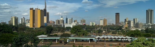 Panoramic skyline Nairobi Stock Photo