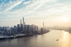 Panoramic skyline of Shanghai Royalty Free Stock Photo