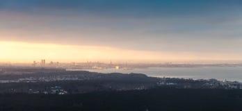 Panoramic skyline of Tallinn city, Estonia Stock Images