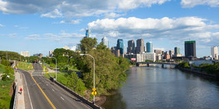 Panoramic skyline view of Philadelphia, Pennsylvania Royalty Free Stock Image
