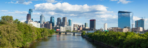Panoramic skyline view of Philadelphia, Pennsylvania Stock Images