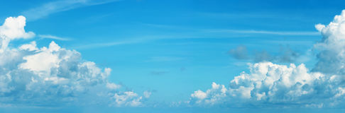 Panoramic skyscape with Cumulonimbus clouds Royalty Free Stock Photo