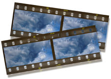 Panoramic slide. Computer generated slides and film stripe Stock Photos