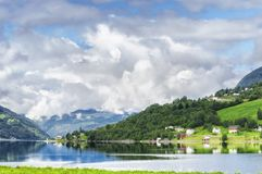Panoramic of a small village royalty free stock images