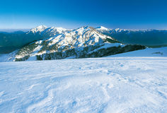 Panoramic snow mountain scenery. Royalty Free Stock Image