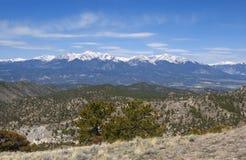 Panoramic Snowy Mountain View Stock Photos