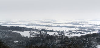 Winter scenery in Hohenlohe Stock Images