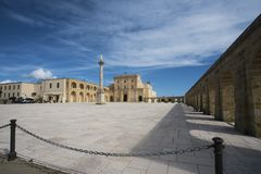 Square in front of Santa Maria di Leuca -Apulia-Italy stock images