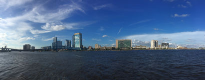 Panoramic of St. John's River and Jacksonville, FL Stock Photo