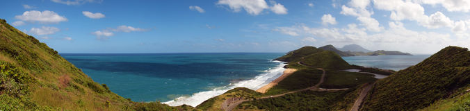 Panoramic of St. Kitts Stock Photography