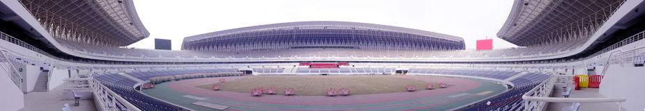Panoramic of a stadium Royalty Free Stock Images