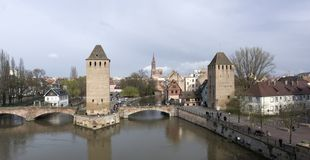 Panoramic Strasbourg scenery Stock Photo